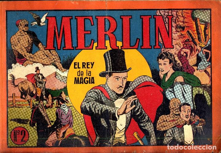 Tebeos: MERLIN HISPANO AMERICANO EDICIONES AÑO 1942 ORIGINALES COMPLETA 45 NºS ARCON PASILLO - Foto 15 - 84603668