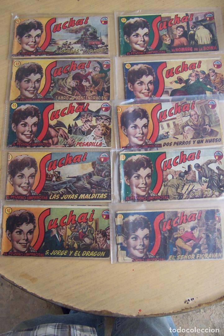 Tebeos: hispano americana, lote de 225 nº de suchai y almanaque 1955 y 1956 - Foto 5 - 84704212