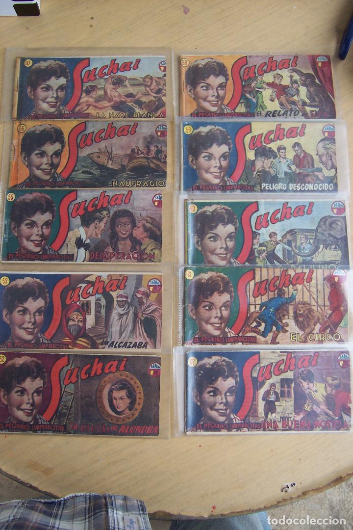 Tebeos: hispano americana, lote de 225 nº de suchai y almanaque 1955 y 1956 - Foto 6 - 84704212