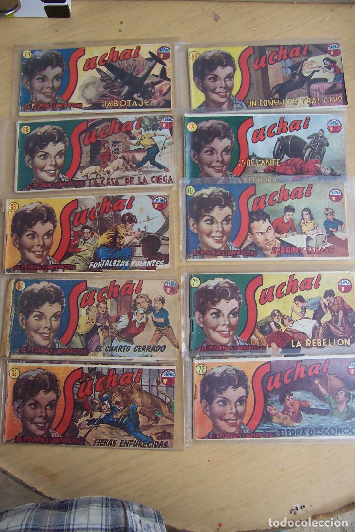 Tebeos: hispano americana, lote de 225 nº de suchai y almanaque 1955 y 1956 - Foto 7 - 84704212