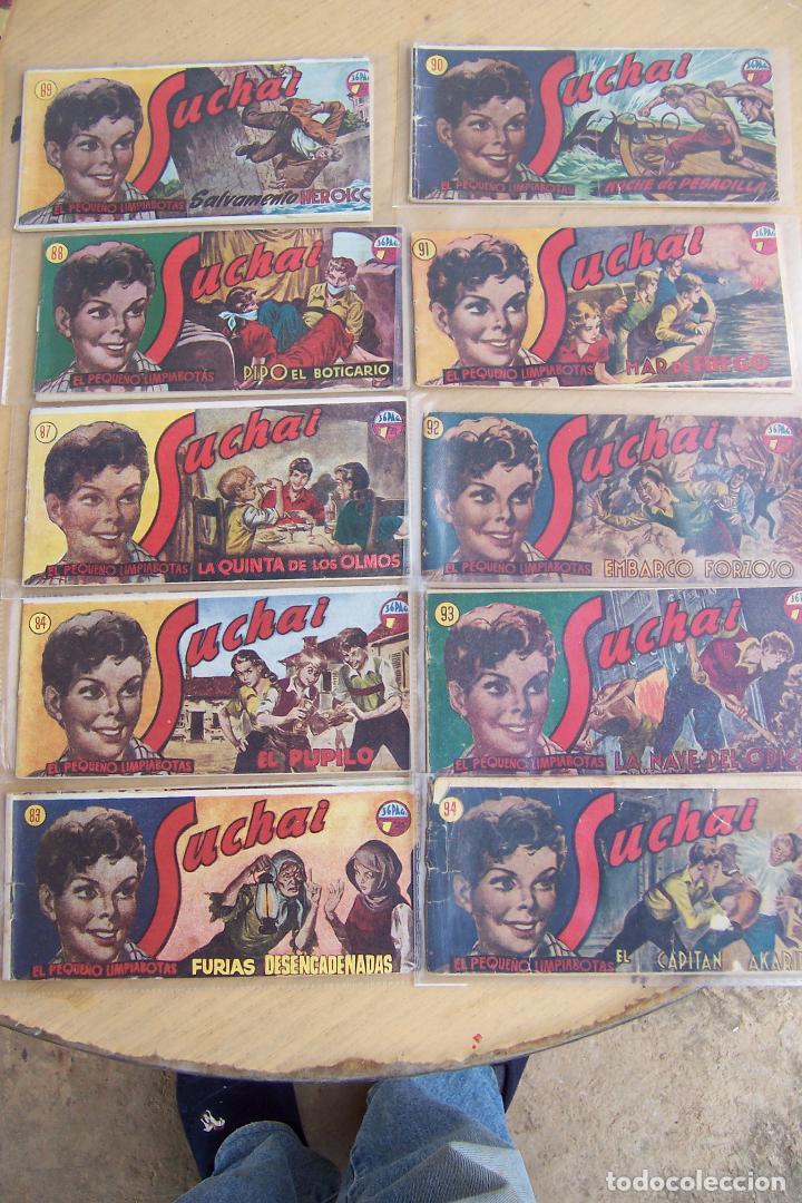 Tebeos: hispano americana, lote de 225 nº de suchai y almanaque 1955 y 1956 - Foto 9 - 84704212