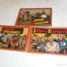 Tebeos: JORGE Y FERNANDO ALBUM ROJO Nº 1 4 6. HISPANO AMERICANA. 1944. 4 PTS. RÚSTICA BE. RAROS.. Lote 85029640