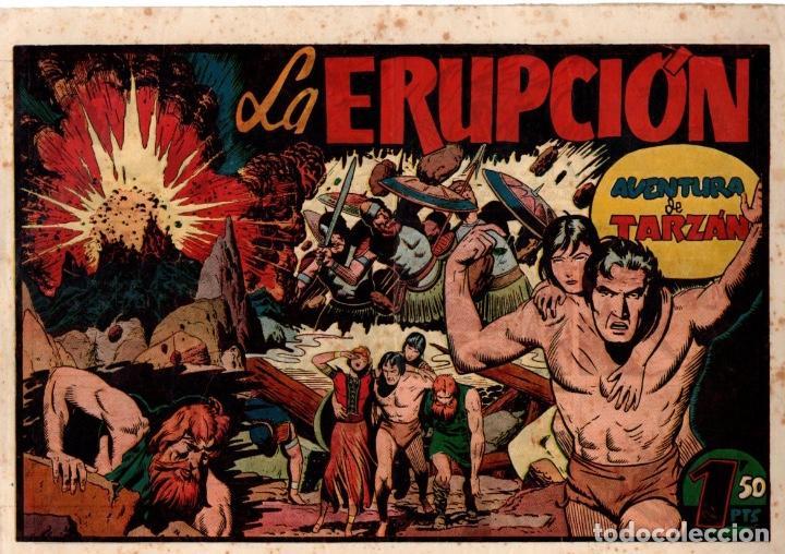 LA ERUPCIÓN. AVENTURA DE TARZAN. ORIGINAL. CIRCA 1940 (Tebeos y Comics - Hispano Americana - Tarzán)