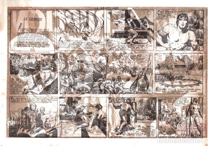 Tebeos: LA ERUPCIÓN. AVENTURA DE TARZAN. ORIGINAL. CIRCA 1940 - Foto 2 - 87421764