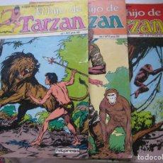 Tebeos: EL HIJO DE TARZÁN, VOL. 1, Nº 4, 5, 7, HITPRESS, 1981. Lote 87549244