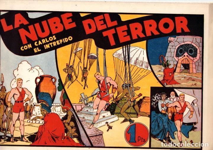 LA NUBE DEL TERROR CON CARLOS EL INTREPIDO. ORIGINAL. AÑOS 40 (Tebeos y Comics - Hispano Americana - Carlos el Intrépido)