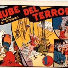 Tebeos: LA NUBE DEL TERROR CON CARLOS EL INTREPIDO. ORIGINAL. AÑOS 40. Lote 87782212