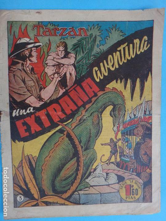 TARZAN , UNA EXTRAÑA AVENTURA , Nº 3 , HISPANO AMERICANA , ORIGINAL , CL (Tebeos y Comics - Hispano Americana - Tarzán)