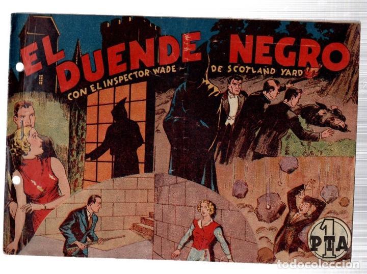 EL DUENDE NEGRO CON EL INSPECTOR WADE DE SCOTLAND YARD. ORIGINAL (Tebeos y Comics - Hispano Americana - Otros)