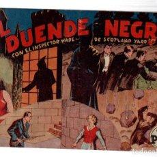 Tebeos: EL DUENDE NEGRO CON EL INSPECTOR WADE DE SCOTLAND YARD. ORIGINAL. Lote 192110665
