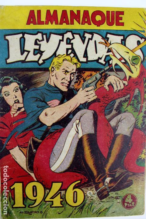 COM-179. ALMANAQUE LEYENDAS AÑO 1946. ORIGINAL. 70 PAGINAS. HISPANO AMERICANA DE EDICIONES. (Tebeos y Comics - Hispano Americana - Otros)