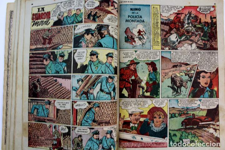 Tebeos: COM-179. ALMANAQUE LEYENDAS AÑO 1946. ORIGINAL. 70 PAGINAS. HISPANO AMERICANA DE EDICIONES. - Foto 7 - 89506252