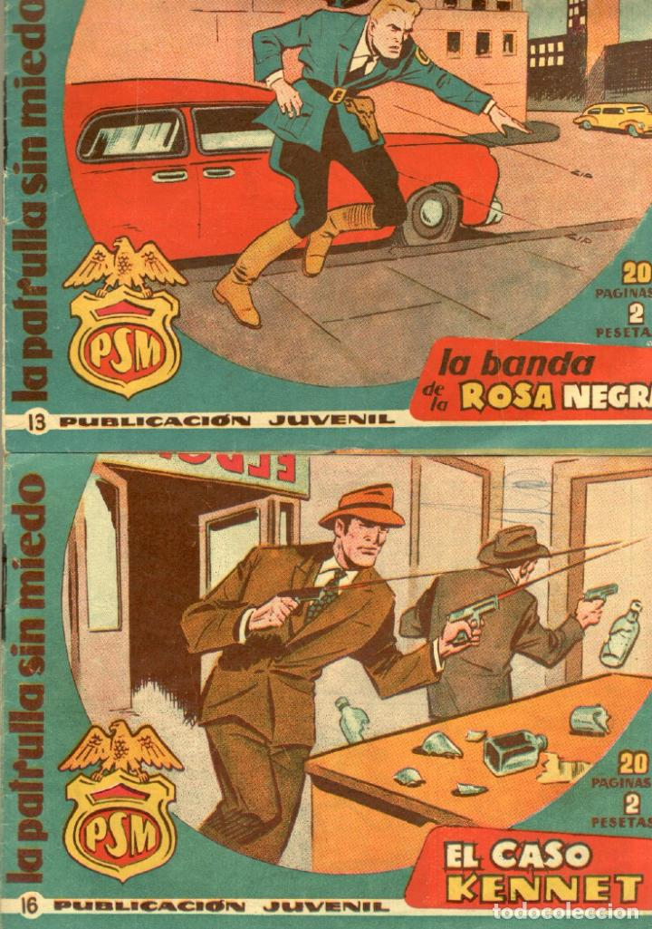 Tebeos: LA PATRULLA SIN MIEDO ORIGINAL LOTE NºS 3,4,5,6,7,10,11,12,13,16,17,18,19,21 VER PORTADAS 1961 - Foto 6 - 89691180