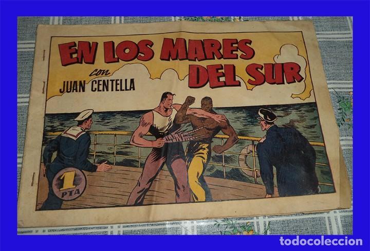 JUAN CENTELLA N.º 68 EN LOS MARES DEL SUR HISPANA AMERICANA 1 PTAS. ORIGINAL DE ÉPOCA (Tebeos y Comics - Hispano Americana - Juan Centella)