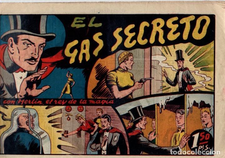 EL GAS SECRETO CON MERLIN EL REY DE LA MAGIA. 1,50 PTAS. ORIGINAL (Tebeos y Comics - Hispano Americana - Merlín)