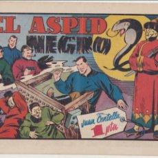 Tebeos: JUAN CENTELLA. EL ASPID NEGRO. HISPANO AMERICANA 1955.. Lote 91923420