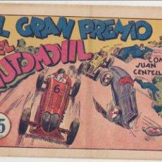 Tebeos: JUAN CENTELLA Nº 44. EL GRAN PREMIO DEL AUTOMOVIL. HISPANO AMERICANA 1940. CONTIENE LOS CROMOS DE -. Lote 91923680