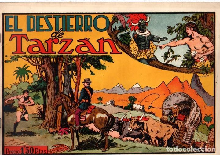 EL DESTIERRO DE TARZAN. 1,50 PTAS. ORIGINAL. AÑOS 40 (Tebeos y Comics - Hispano Americana - Tarzán)