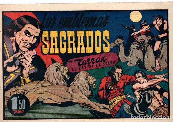 LOS EMBLEMAS SAGRADOS CON TARZAN EL REY DE LA SELVA. 1,50 PTAS. ORIGINAL. AÑOS 40 (Tebeos y Comics - Hispano Americana - Tarzán)
