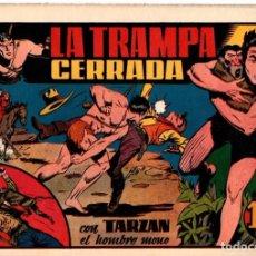 Tebeos: LA TRAMPA CERRADA CON TARZAN EL HOMBRE MONO. 1,50 PTAS. ORIGINAL. AÑOS 40. Lote 92707520