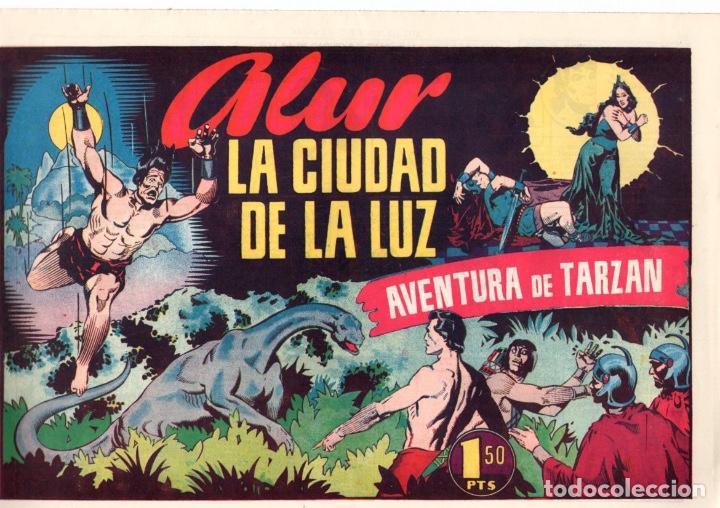 ALUR LA CIIUDAD DE LA LUZ. AVENTURA DE TARZAN. 1,50 PTAS. ORIGINAL. AÑOS 40 (Tebeos y Comics - Hispano Americana - Tarzán)