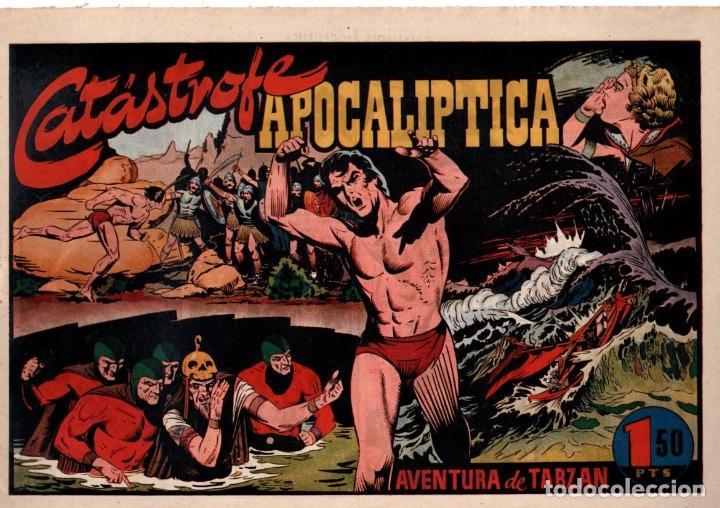 CATÁSTROFE APOCALIPTICA. AVENTURA DE TARZAN. 1,50 PTAS. ORIGINAL. AÑOS 40 (Tebeos y Comics - Hispano Americana - Tarzán)