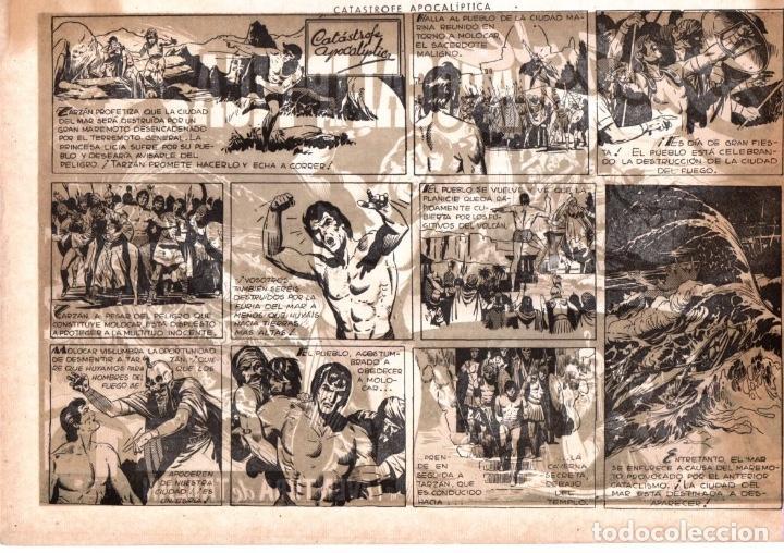 Tebeos: CATÁSTROFE APOCALIPTICA. AVENTURA DE TARZAN. 1,50 PTAS. ORIGINAL. AÑOS 40 - Foto 2 - 92709720