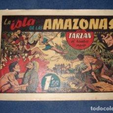 Tebeos: TARZAN 32: LA ISLA DE LAS AMAZONAS, 1942, HISPANO AMERICANA, BUEN ESTADO. Lote 92744525