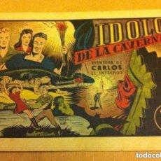 Tebeos: CARLOS EL INTRÉPIDO - EL IDOLO DE LA CAVERNA -(LOMO REPARADO). Lote 93792350