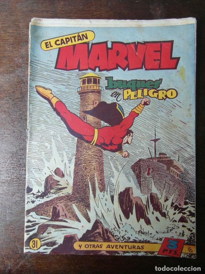EL CAPITAN MARVEL. BUQUES EN PELIGRO Nº 31. HISPANO AMERICANA. ORIGINAL (Tebeos y Comics - Hispano Americana - Capitán Marvel)