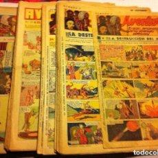 Tebeos: AVENTURERO- AÑOS 1935/37 - LOTE DE 112 EJEMPLARES. Lote 96770131