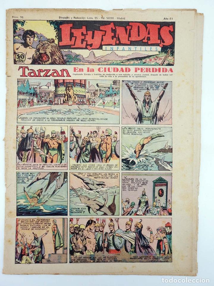 LEYENDAS INFANTILES. AÑO III N.º 96. SENDA / HISPANO AMERICANA, 1944. ORIGINAL (Tebeos y Comics - Hispano Americana - Leyendas Infantiles)