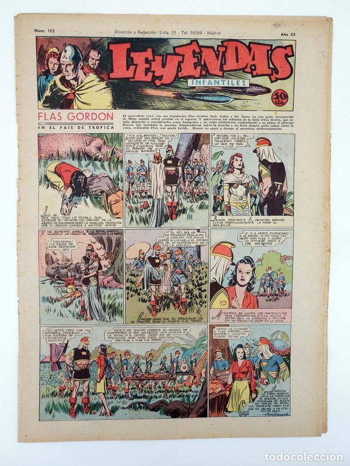 LEYENDAS INFANTILES. AÑO III N.º 103. SENDA / HISPANO AMERICANA, 1944. ORIGINAL (Tebeos y Comics - Hispano Americana - Leyendas Infantiles)
