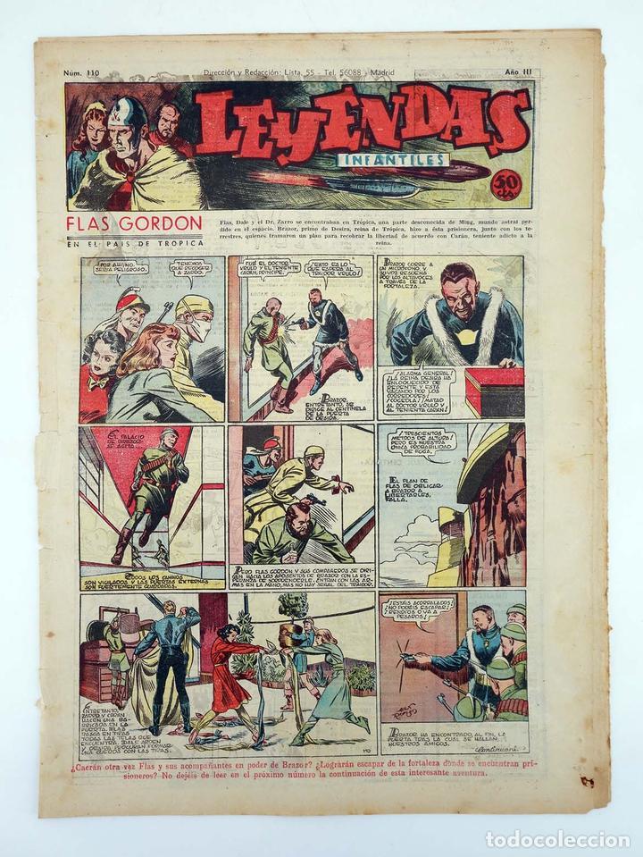 LEYENDAS INFANTILES. AÑO III N.º 110. SENDA / HISPANO AMERICANA, 1944. ORIGINAL (Tebeos y Comics - Hispano Americana - Leyendas Infantiles)