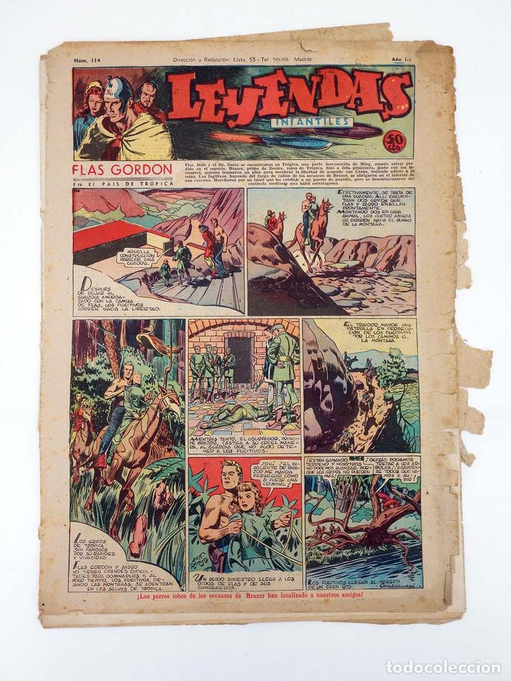 LEYENDAS INFANTILES. AÑO III N.º 114. SENDA / HISPANO AMERICANA, 1944. ORIGINAL (Tebeos y Comics - Hispano Americana - Leyendas Infantiles)
