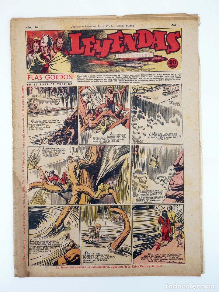 LEYENDAS INFANTILES. AÑO III N.º 116. SENDA / HISPANO AMERICANA, 1944. ORIGINAL (Tebeos y Comics - Hispano Americana - Leyendas Infantiles)