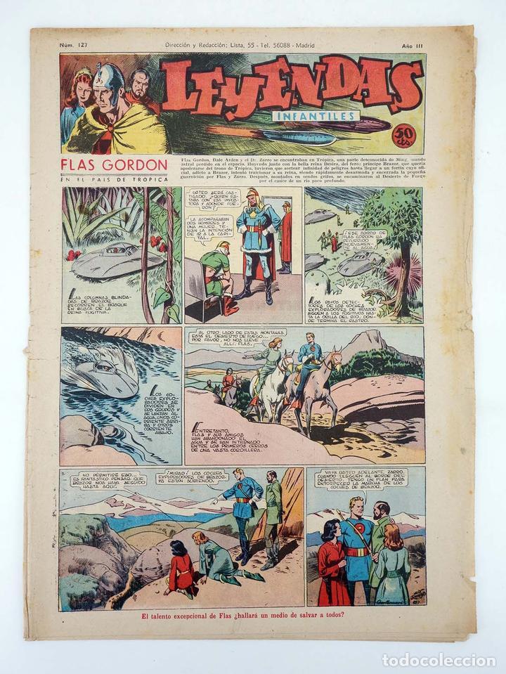 LEYENDAS INFANTILES. AÑO III N.º 127. SENDA / HISPANO AMERICANA, 1944. ORIGINAL (Tebeos y Comics - Hispano Americana - Leyendas Infantiles)
