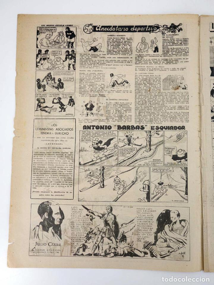 Tebeos: LEYENDAS INFANTILES. AÑO III N.º 127. Senda / Hispano Americana, 1944. Original - Foto 3 - 97066247