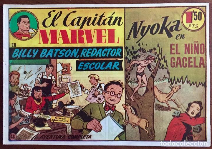 EL CAPITAN MARVEL NÚM. 48 FACSIMIL. H.A.E., BILLY BATSON, REDACTOR ESCOLAR (Tebeos y Comics - Hispano Americana - Capitán Marvel)