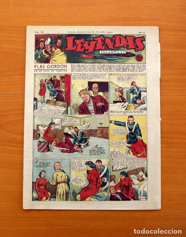 LEYENDAS INFANTILES, Nº 108 - EDITORIAL HISPANO AMERICANA 1944 - TAMAÑO 37X27 (Tebeos y Comics - Hispano Americana - Leyendas Infantiles)