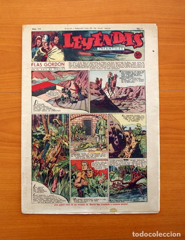 LEYENDAS INFANTILES, Nº 114 - EDITORIAL HISPANO AMERICANA 1944 - TAMAÑO 37X27 (Tebeos y Comics - Hispano Americana - Leyendas Infantiles)