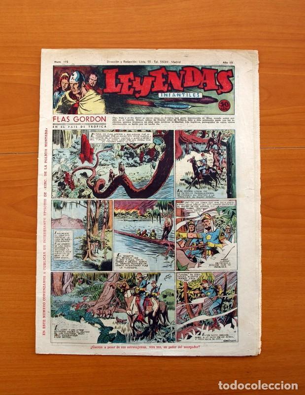 LEYENDAS INFANTILES, Nº 115 - EDITORIAL HISPANO AMERICANA 1944 - TAMAÑO 37X27 (Tebeos y Comics - Hispano Americana - Leyendas Infantiles)