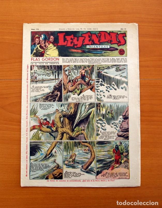 LEYENDAS INFANTILES, Nº 116 - EDITORIAL HISPANO AMERICANA 1944 - TAMAÑO 37X27 (Tebeos y Comics - Hispano Americana - Leyendas Infantiles)