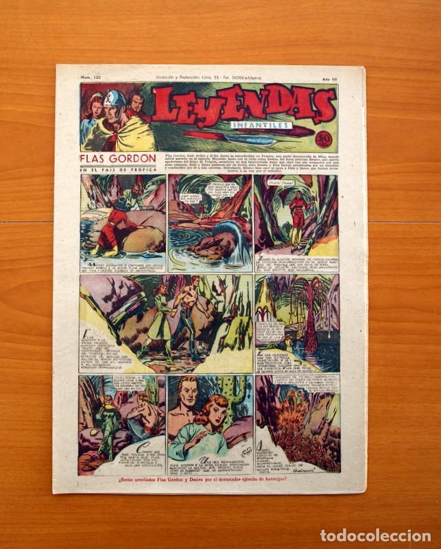 LEYENDAS INFANTILES, Nº 120 - EDITORIAL HISPANO AMERICANA 1944 - TAMAÑO 37X27 (Tebeos y Comics - Hispano Americana - Leyendas Infantiles)
