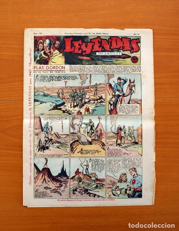 LEYENDAS INFANTILES, Nº 129 - EDITORIAL HISPANO AMERICANA 1944 - TAMAÑO 37X27 (Tebeos y Comics - Hispano Americana - Leyendas Infantiles)