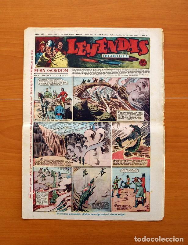 LEYENDAS INFANTILES, Nº 130 - EDITORIAL HISPANO AMERICANA 1944 - TAMAÑO 37X27 (Tebeos y Comics - Hispano Americana - Leyendas Infantiles)