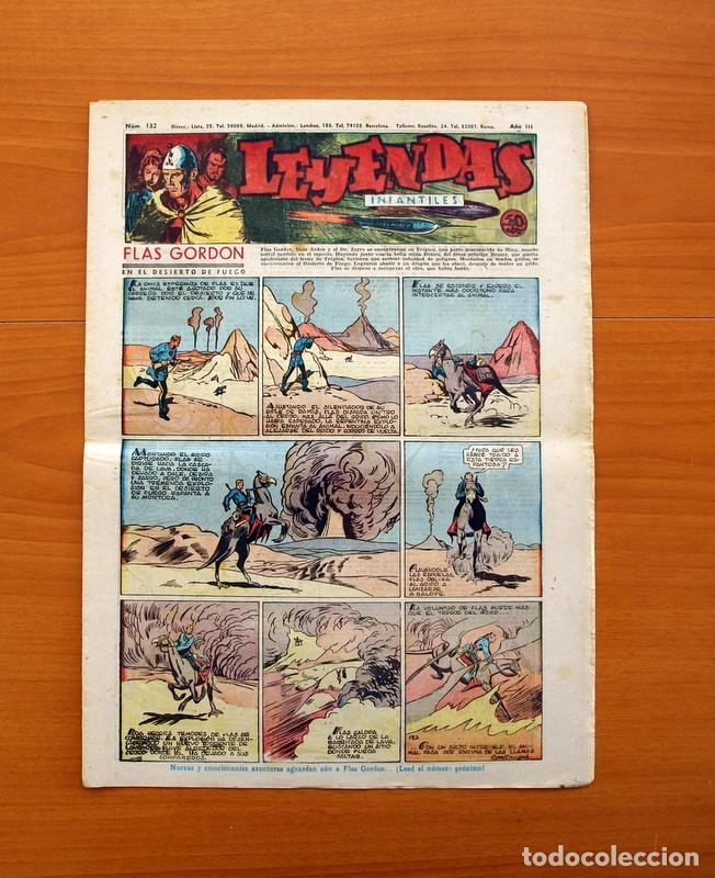 LEYENDAS INFANTILES, Nº 132 - EDITORIAL HISPANO AMERICANA 1944 - TAMAÑO 37X27 (Tebeos y Comics - Hispano Americana - Leyendas Infantiles)