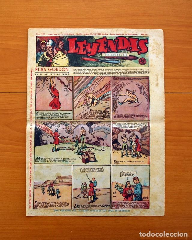 LEYENDAS INFANTILES, Nº 134 - EDITORIAL HISPANO AMERICANA 1944 - TAMAÑO 37X27 (Tebeos y Comics - Hispano Americana - Leyendas Infantiles)