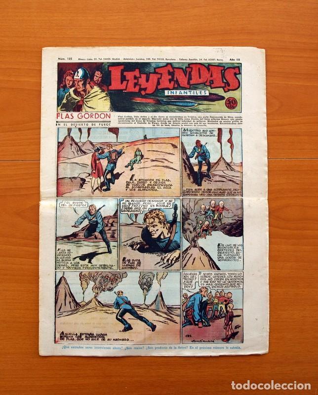 LEYENDAS INFANTILES, Nº 135 - EDITORIAL HISPANO AMERICANA 1944 - TAMAÑO 37X27 (Tebeos y Comics - Hispano Americana - Leyendas Infantiles)