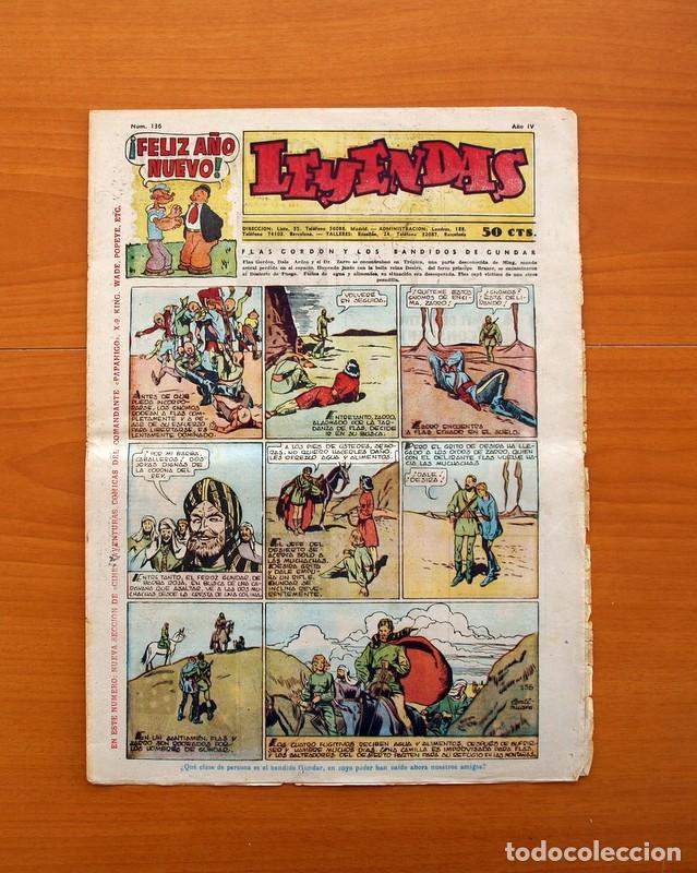 LEYENDAS, Nº 136 - EDITORIAL HISPANO AMERICANA 1944 - TAMAÑO 37X27 (Tebeos y Comics - Hispano Americana - Leyendas Infantiles)